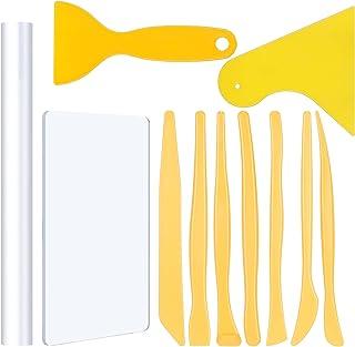 SUSSURRO 11 Pcs Outils de Modelage Céramique Ensemble Rouleau et Planches en Acrylique pour Argile Polymère, Outils de Scu...