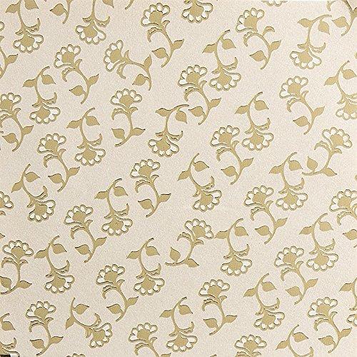 Edel-Faltpapier, Perlmutt, folienveredelt, 10x10 cm, 100 Blatt, gold | Papier für verschiedene Falttechniken, Origami, Bastelpapier | Rund ums Jahr | Weihnachten | DIY, Kunst, Handwerk (Design 2)