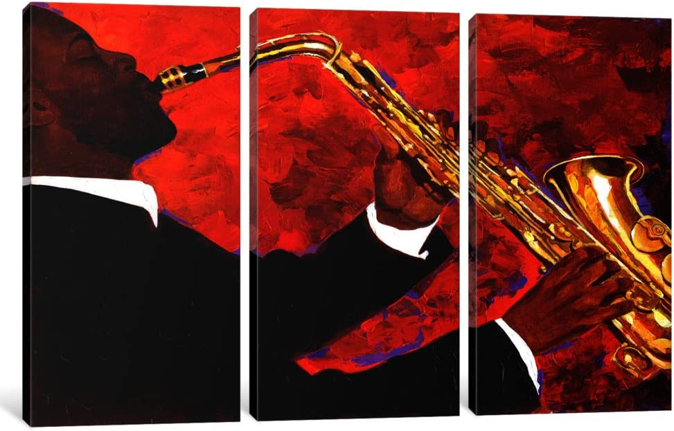 iCanvasART Limited time trial price 3-Piece Man on Fire Canvas 1. Ranking integrated 1st place Mallett Keith by Print