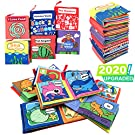 Cloth Book for Baby Soft Activity Books for Baby, Toddler, Infant Travel Toys- Let's Learn Together, Educational Toy for Boy & Girl, Touch and Feel Crinkle book, Shower Gift for Baby, Pack of 6
