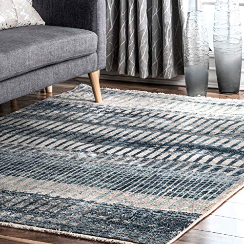 nuLOOM Carlee Contemporary Shaded Runner Rug, 2' 6' x 8', Blue