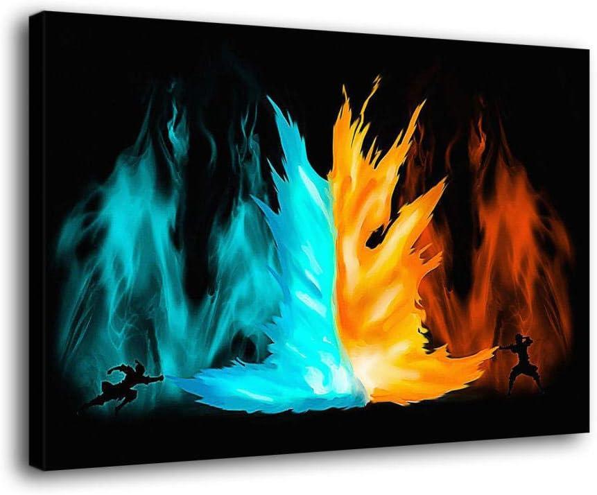 LOPIU 営業 Avatar The Last Airbender Cartoon Posters Canvas Art 返品交換不可 Print