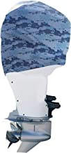 OUTERENVY Blue Digital Camo Outboard Motor Cover for Yamaha, Suzuki and Mercury | Made in USA to Stay on While You Run!