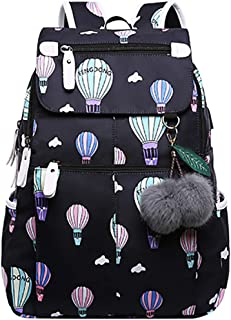 YanHao Womens Fashion Backpack Flap Cover Drawstring School Backpack Travel Rucksack Daypack