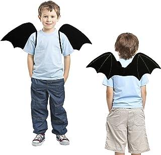 Lulu Home Halloween Bat Wings for Kids, Black Bat Wings with Light Up Headband, Kids Bat Wing Costume Vampirina Costume De...