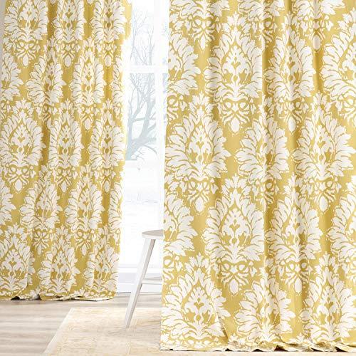 HPD Half Price Drapes PRTW-D46A-108 Printed Cotton Twill Curtain (1 Panel), 50 X 108, Lacuna Sun