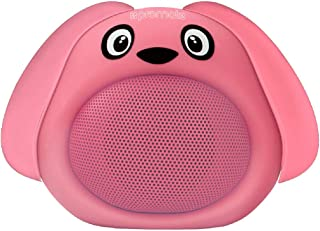 Promate Bluetooth Speaker Portable Wireless Kids Bluetooth V4.1 Speaker With Hd Sound Quality Hands-Free Call Function And Cute Dog Design For Bluetooth Enabled Devices Snoopy Pink