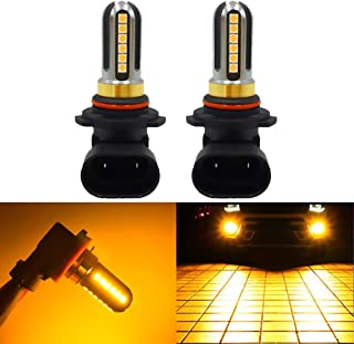 LED Fog Lights Bulbs Or DRL 9006 HB4, Super Bright Amber Yellow 3000K, 4000Lm,High Power for Fog Driving Light,24Pcs 3030SMD for Fog Light Lamps Replacement 2Yrs Warranty