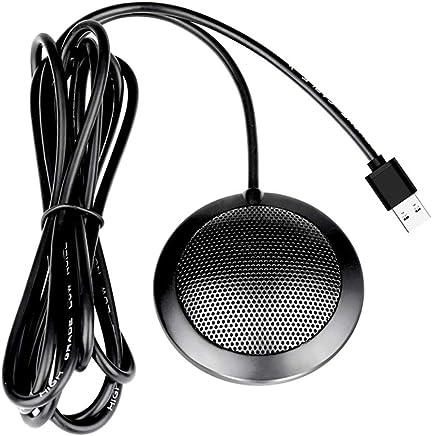Electz Microfono Desktop USB, Microfono Omnidirezionale A 360 Gradi, Microfono Vocale, Plug And Play, Microfono per Computer A Lunga Distanza - Trova i prezzi più bassi