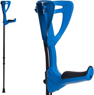 ErgoTech Lightweight Forearm Crutches By FDI (Size: 4'4-6'7) 1 Pair/2 Crutches Blue