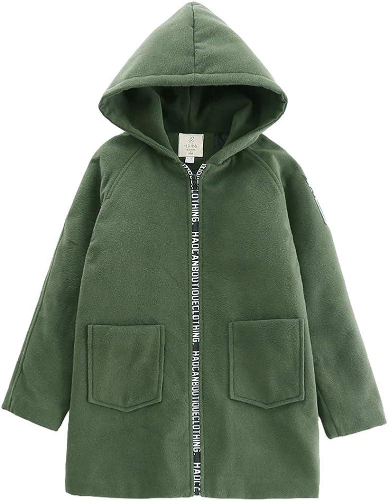 Children Boys Thicken Woolen Coat Free shipping New Plus Velvet Solid Winter Color Sale SALE% OFF
