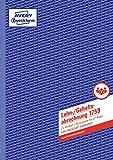 AVERY Zweckform 1759 Lohn-/Gehaltsabrechnung (A4, selbstdurchschreibend, für Deutschland, von Rechtsexperten geprüft und vom Finanzamt anerkannt, 2x40 Blatt) weiß/gelb