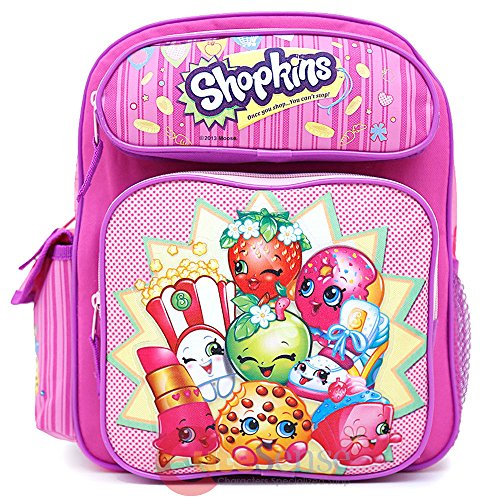 Shopkins School Backpack Medium 12' Girls Book Bag