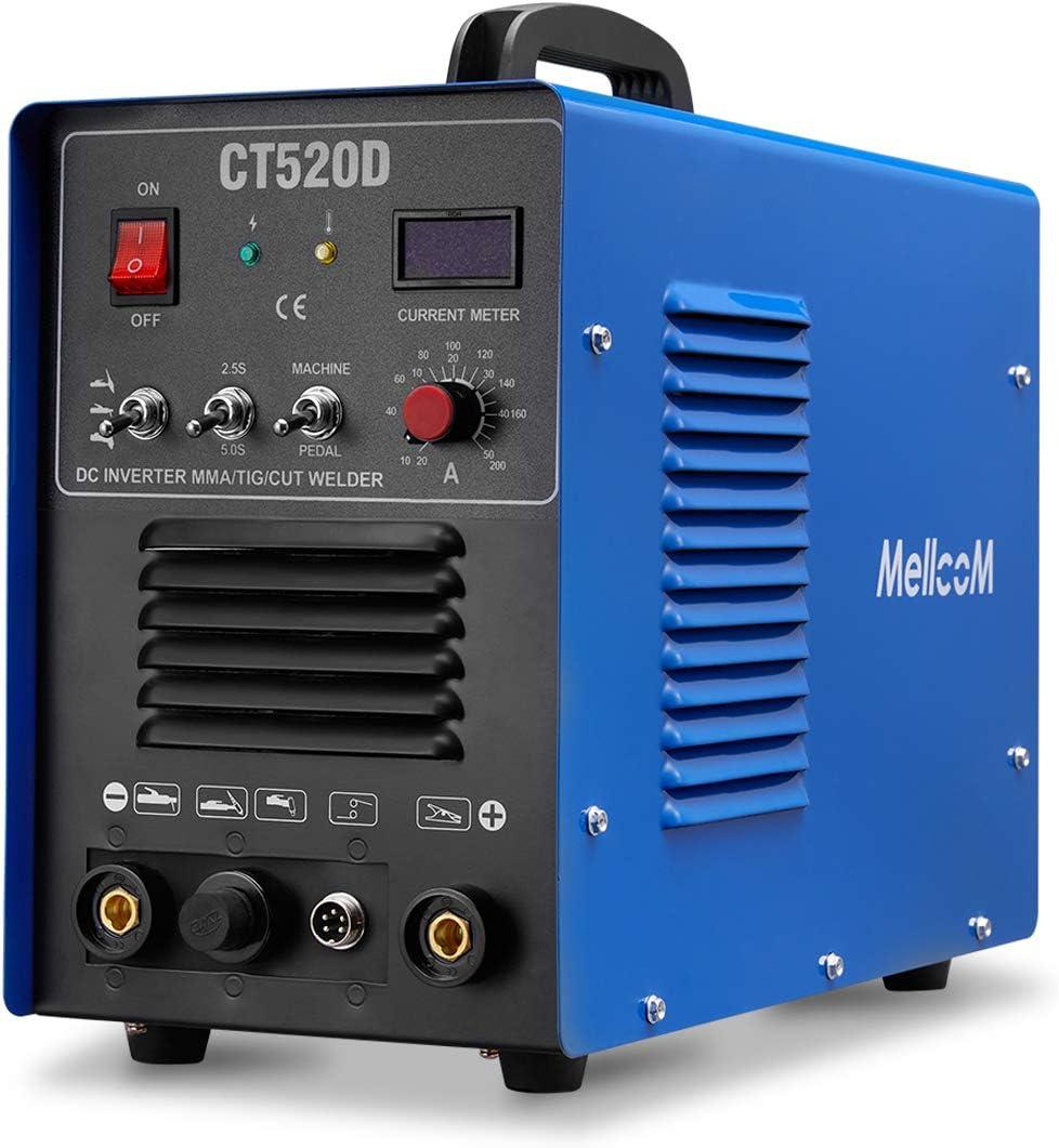 MELLCOM CT520D shop Welding Machine 50Amp 200Amp Max 63% OFF W Plasma TIG Cutter
