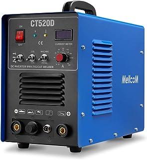 MELLCOM CT520D Welding Machine 50Amp Plasma Cutter, 200Amp TIG Welder 3 in 1 Multifunctional TIG/ MMA/ Plasma Cutter, 110/...