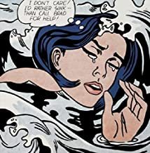 Picture Peddler Drowning Girl by Roy Lichtenstein Comic Woman Funny Humor Poster (Choose Size of Print)
