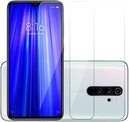 POPIO Full Screen Coverage Except Edges Tempered Glass Screen Protector With Easy Installation Kit For Xiaomi Redmi Note 8 Pro Transparent Pack Of 2