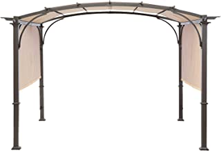 MasterCanopy Universal Doubleton Steel Pergola Replacement Cover ONLY for Pergola Structures L-PG080PST 80''x 205''Beige(Cover only)