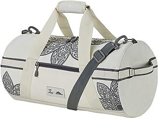 High Sierra Life is Good Mandala Cargo Duffel Bag, Travel Duffel Bag, Putty White/Slate Grey (White) - 124917-8111