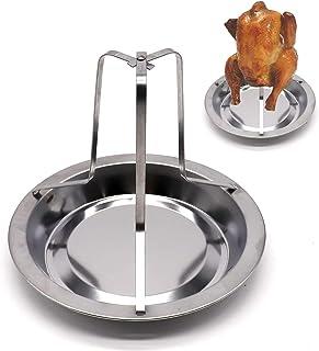 Voarge Naczynie do pieczenia kurczaka ze stali nierdzewnej, z pionowym naczyniem, płyta do pieczenia, rękodzieło kuchenne,...
