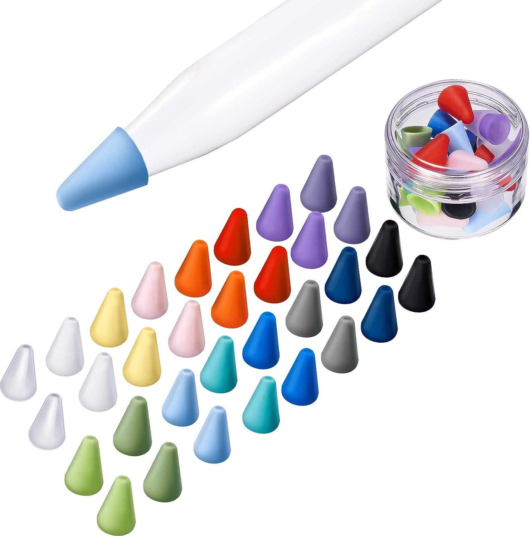 Puntas de silicona para Apple Pencil, 16 colores (Pack 32)