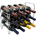 Sorbus 3-Tier Stackable Wine Rack - Classic Style Wine Racks for Bottles - Perfect for Bar, Wine Cellar, Basement, Cabinet, Pantry, etc - Hold 12 Bottles, Metal