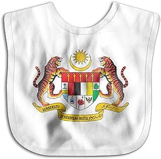 Coat Of Arms Of Malaysia Newborn Baby Boys Girls Towel Bib Skin-friendly Saliva Towel Bibs