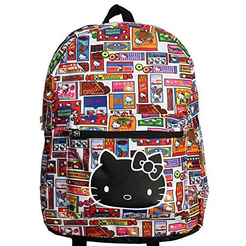 Hello Kitty Backpack All Over Print Logo Nuevo Oficial Sanrio Unisex