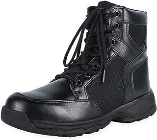 40024ce2492 YongBe Boots/boot Hombres Botas Cuero Botines Combate Seguridad Botas del  ejército Militar Zapatillas Seguridad