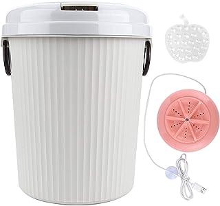 Elektrisk tvättmaskin, Mini 18W 8L praktisk USB-driven tvättmaskin, för hemtvätt utomhusunderkläder babyblöjor tvätt(Pink)