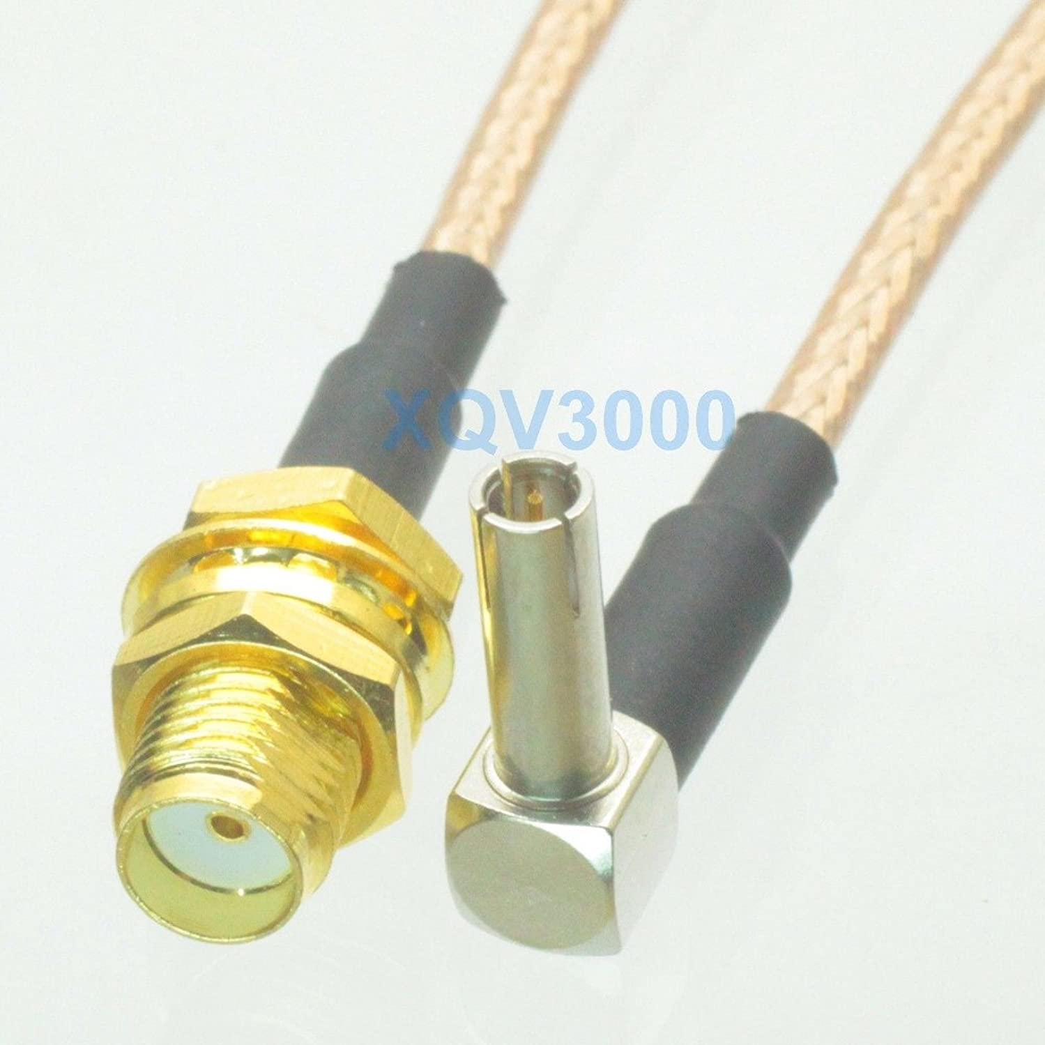 Gimax RG316 12inch RF pigtail TS9 male plug pin right angle to SMA female bulkhead Cable For 3G USB Modem