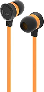 Headphones with Mic by iLuv, Orange, IEP334ORGN