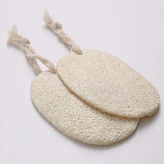 Hiikk 5pcs Esponja de Esponja de Esponja de Esponja de Esponja de Esponja Natural con Cuerda de algodón Colgante Esponja de Esponja de Tela de lavavajillas Olla de Cocina Herramientas limpias