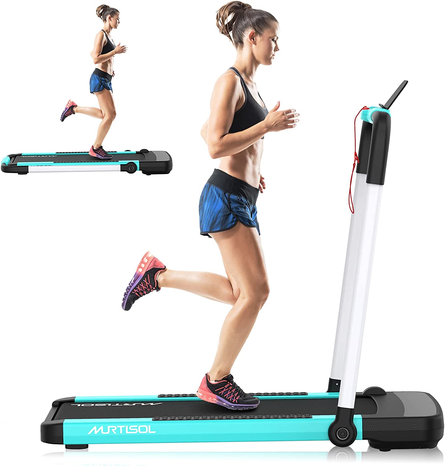 Murtisol Safety and trust 2 Boston Mall in 1 Folding Treadmill Tr Electric 2.25HP Desk Under