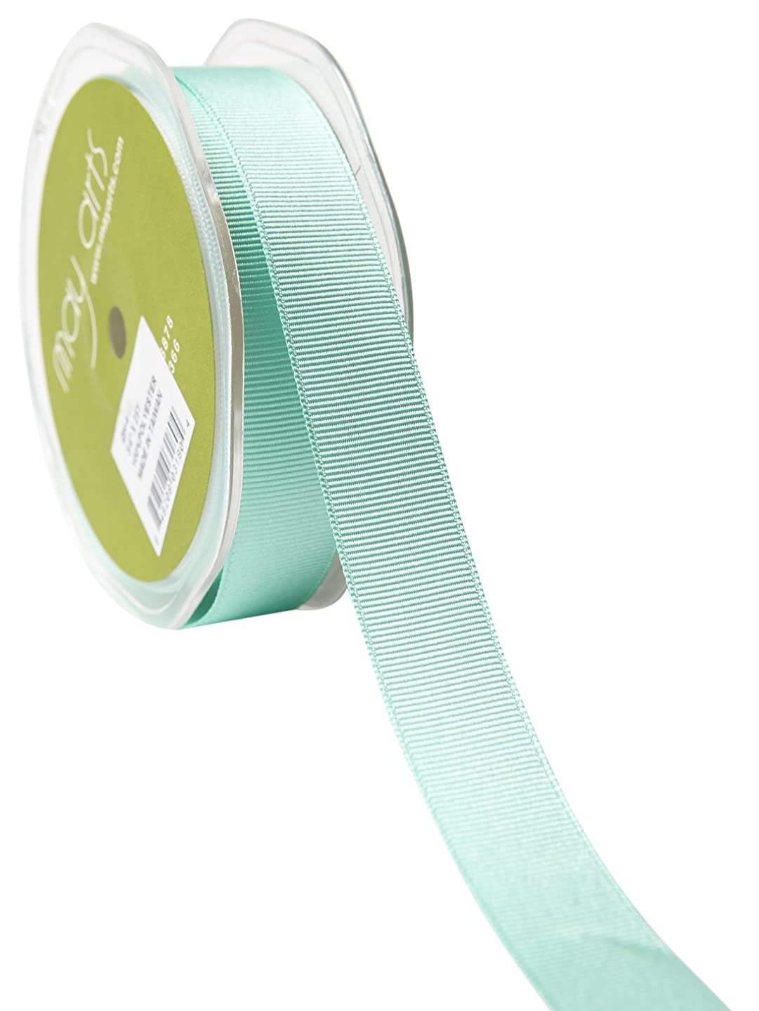 May Arts 3/4 Inch Grosgrain Ribbon, 25 yd, Robins Egg Blue