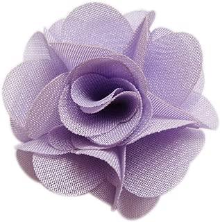 YYCRAFT Pack of 30 Chiffon Flower 1.5 Hair Flower Headband-Lavender