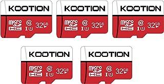 KOOTION 5 X 32GB Micro SD Card Class 10 Micro SDHC Card 32GB TF Card High-Speed Micro SD Cards 5 Pack Memory Card UHS-1, C...