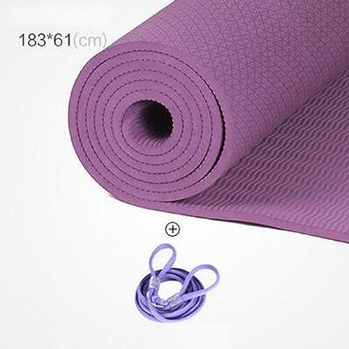 Insipide TPE Yoga Matthickening allongé Anti-dérapant Yoga Matsports Fitness Tapis de Yoga (6mm 8mm épaisseur) (4 Couleurs en Option)