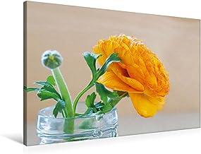 Premium - Lienzo de tela (90 cm x 60 cm, horizontal), diseño de calendario de flores tiernas y bonitas, imagen sobre bastidor, imagen sobre lienzo auténtico, impresión de calvendo natural
