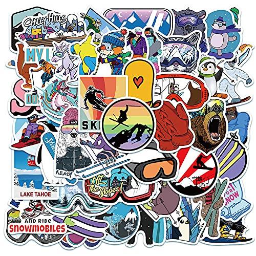 DSSJ 50 Pegatinas de Graffiti para Deportes de esquí al Aire Libre, Pegatinas Personalizadas para Maleta, Cuaderno, Cuenta de Mano, Pegatinas Impermeables