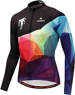 YIDUN Men's Cycling Jersey Long Sleeve Reflective