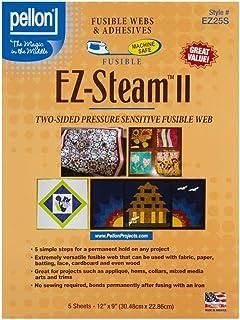 Pellon EZ Steam II Sheet, 12-Inch x 9-Inch, White, 5-Pack