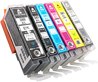 【Angelshop】 CANON (キャノン) BCI-381XL (BK/C/M/Y/GY) + 380XLBK 6色セット 全色大容量 互換インク 残量表示機能付 Angelshopオリジナル 対応機種:TS8230, TS8130