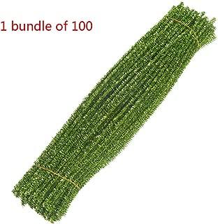 liumiKK 100Pcs Hair Root Decor Bundle Flash Shinny Top Twisting Rope Crooked Stick Manual Material Christmas Tree Embellishes Kids DIY Accoessories