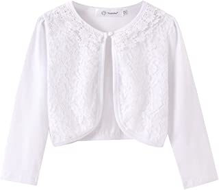 ZHUANNIAN Little Girls' Long Sleeve Lace Bolero Cardigan...