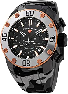 Swiss Legend Lionpulse Chronograph Quartz Black Dial Men's Watch SL-10617SM-GM-01-RA