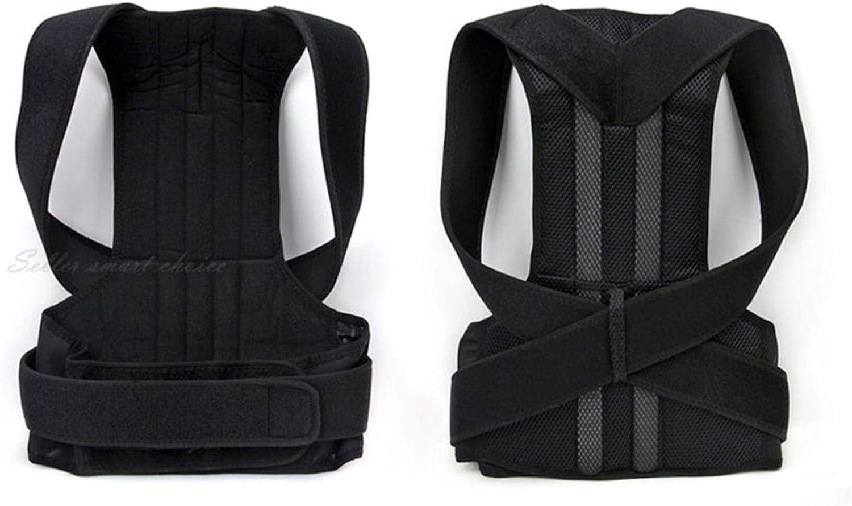 YUMUO Correcteur de Posture - problèmes de Dos, d'épaule et lombaires - Soutien orthopédique (S-XXL Noir) (XL) 2