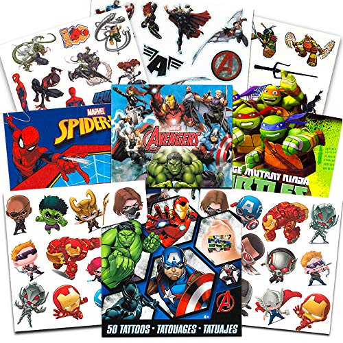 Super Hero Party Supplies Set -- 125 Temporary Tattoos Featuring ...