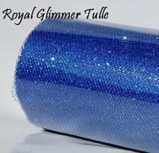 Wedding GLITTER Tulle Roll 6in x 30ft ROYAL Sparkling Tulle (10 yards)