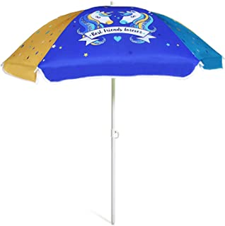 AMMSUN 47 Inch (120cm) Seaside Beach Umbrella for Sand and Water Table - Kids Durable Umbrella Beach Camping Garden Outdoo...